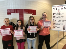February's Middle School Students of the Month