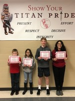 November's Middle School Students of the Month