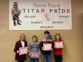 December's Middle School Students of the Month