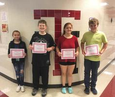 September's Middle School Students of the Month
