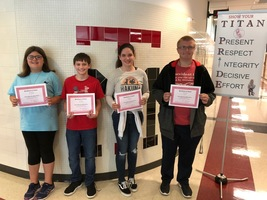 September Middle School Students of the Month