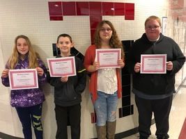 October's Middle School Students of the Month